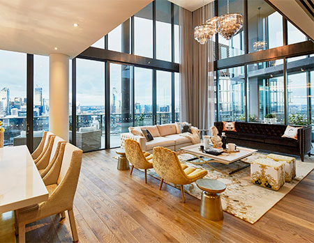 Array Penthouse living room